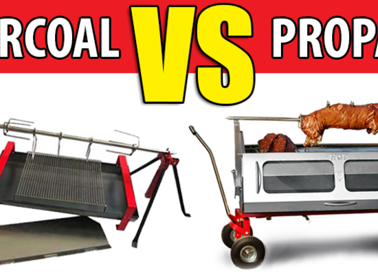 Pig Roasting Over Open Coals Versus in a Propane Roaster